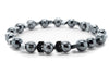 Gray Hematite Gemstones Beaded Bracelet for Men and Women