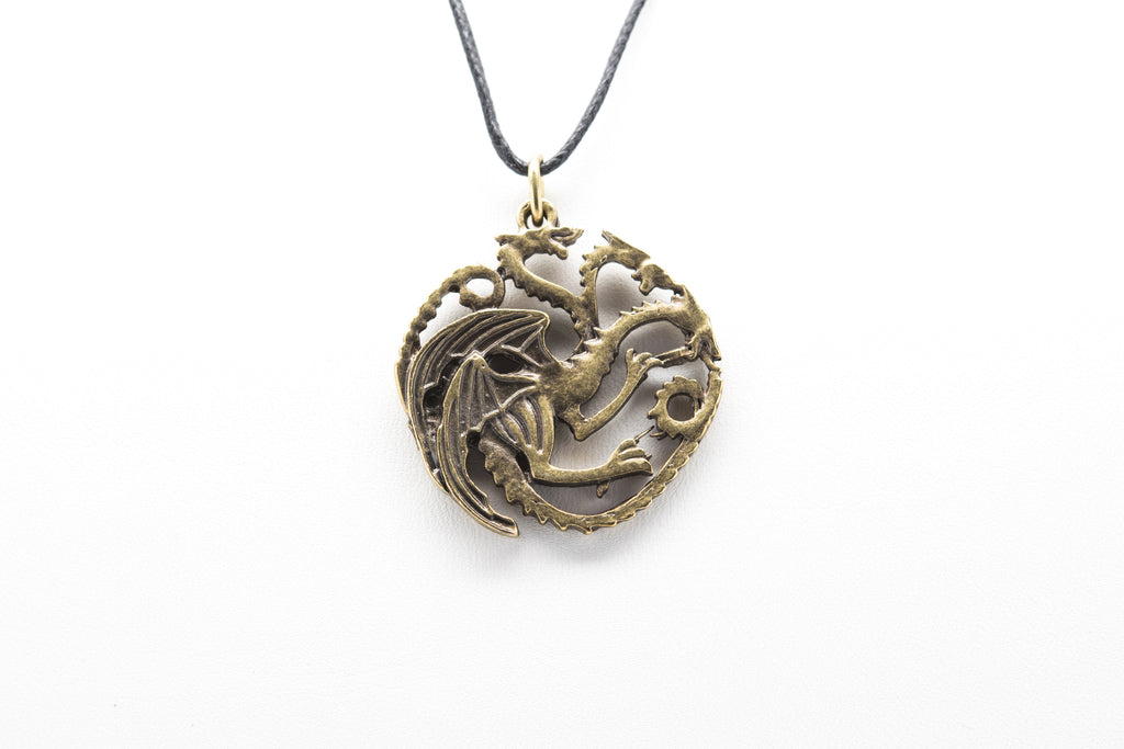 3 Dragons Unisex Necklace with Rope