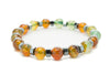Multicolor Agate Gemstones Beaded Bracelet for Men and Women