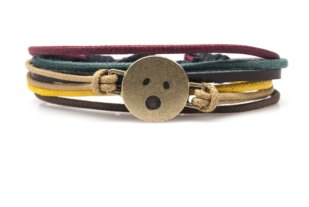 Emoji Bracelet Face With Open Mouth - Orti Jewelry
