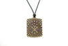 Arrow and Stars Unisex Necklace with Black Cord - Orti Jewelry