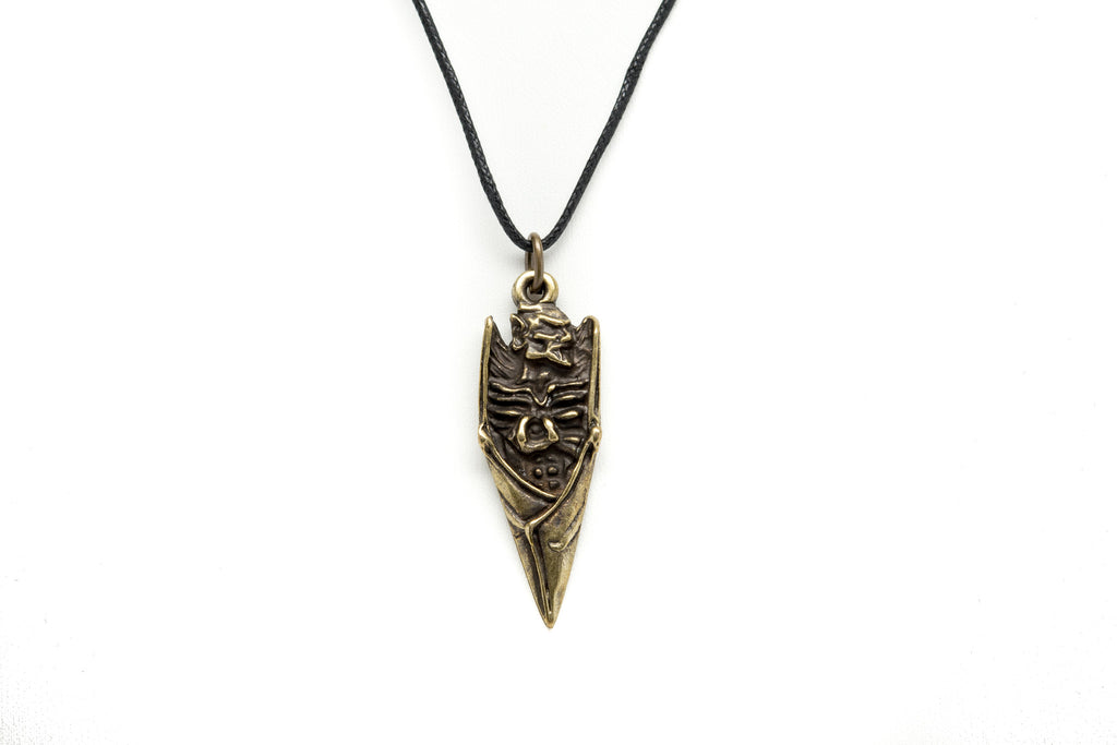 Bat Skeleton Unisex Necklace with Black Cord - Orti Jewelry