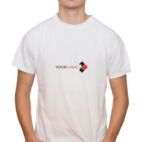 Adult Cotton T-Shirt with 1 Small Logo