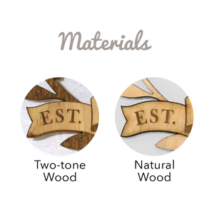 Personalized Wreath Wood Cake Topper
