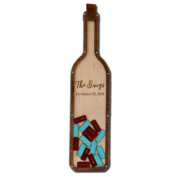 Personalized Wine Bottle Guestbook