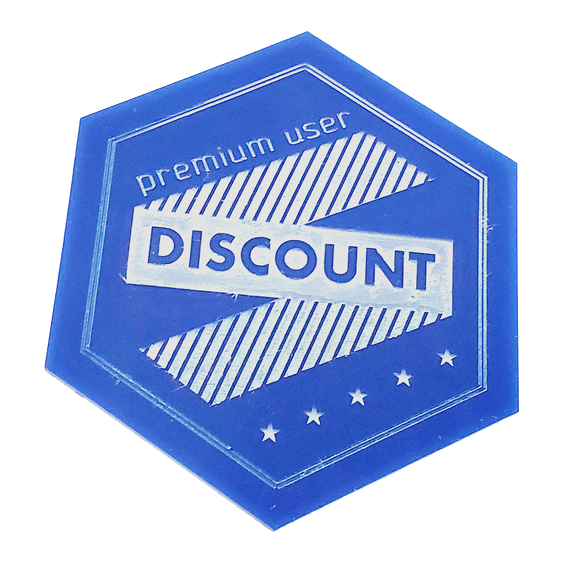 Hexagon Acrylic Coaster with Logo