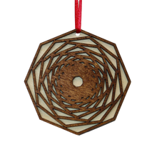 Load image into Gallery viewer, Geometric Laser Cut Wood Ornaments