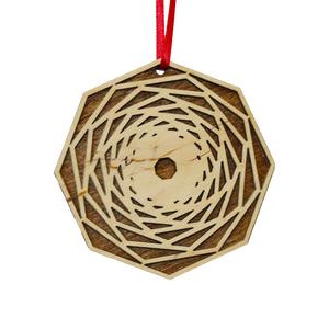 Geometric Laser Cut Wood Ornaments