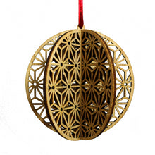 Load image into Gallery viewer, Wood Laser Cut 3D Ornament in Stella Round Design