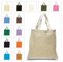 Load image into Gallery viewer, Cotton Tote Bag with Custom Logo - One Dozen