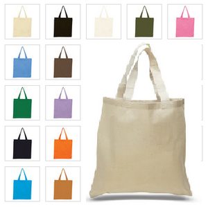 Cotton Tote Bag with Custom Logo - One Dozen