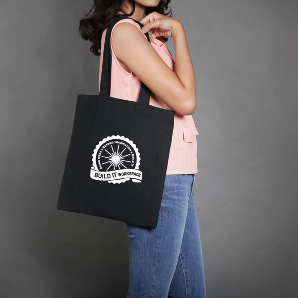 Canvas Shopping Tote with Custom Logo - One Dozen
