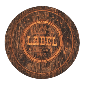 Dark Wood Coaster with Logo