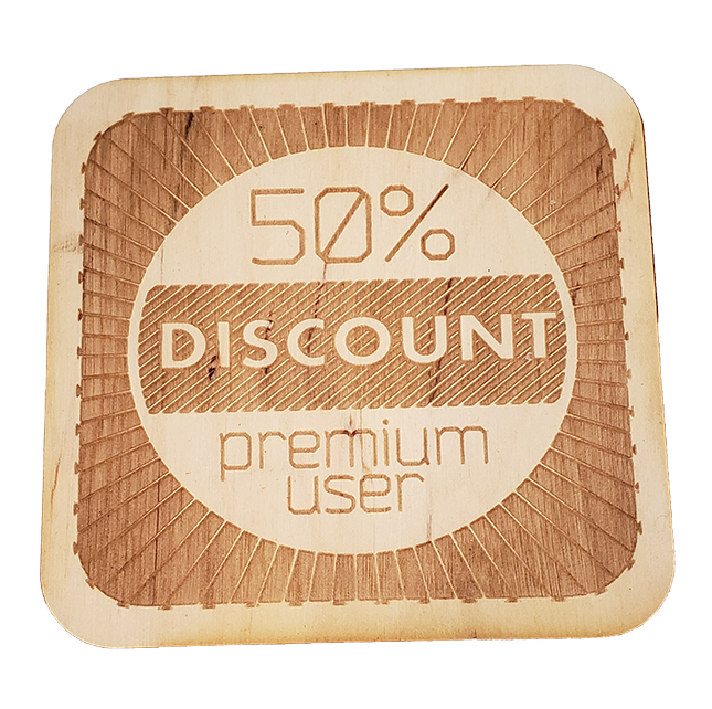 Light Wood Coaster with Logo