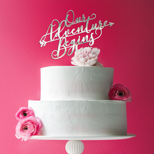 Load image into Gallery viewer, Our Adventure Begins Acrylic Cake Topper