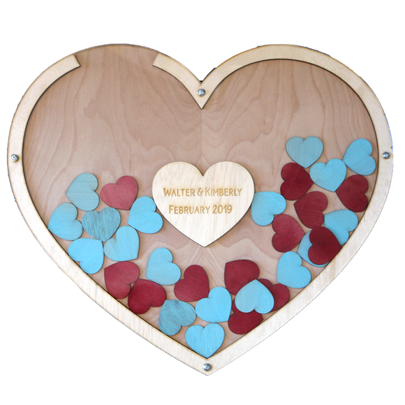 Personalized Heart Guestbook