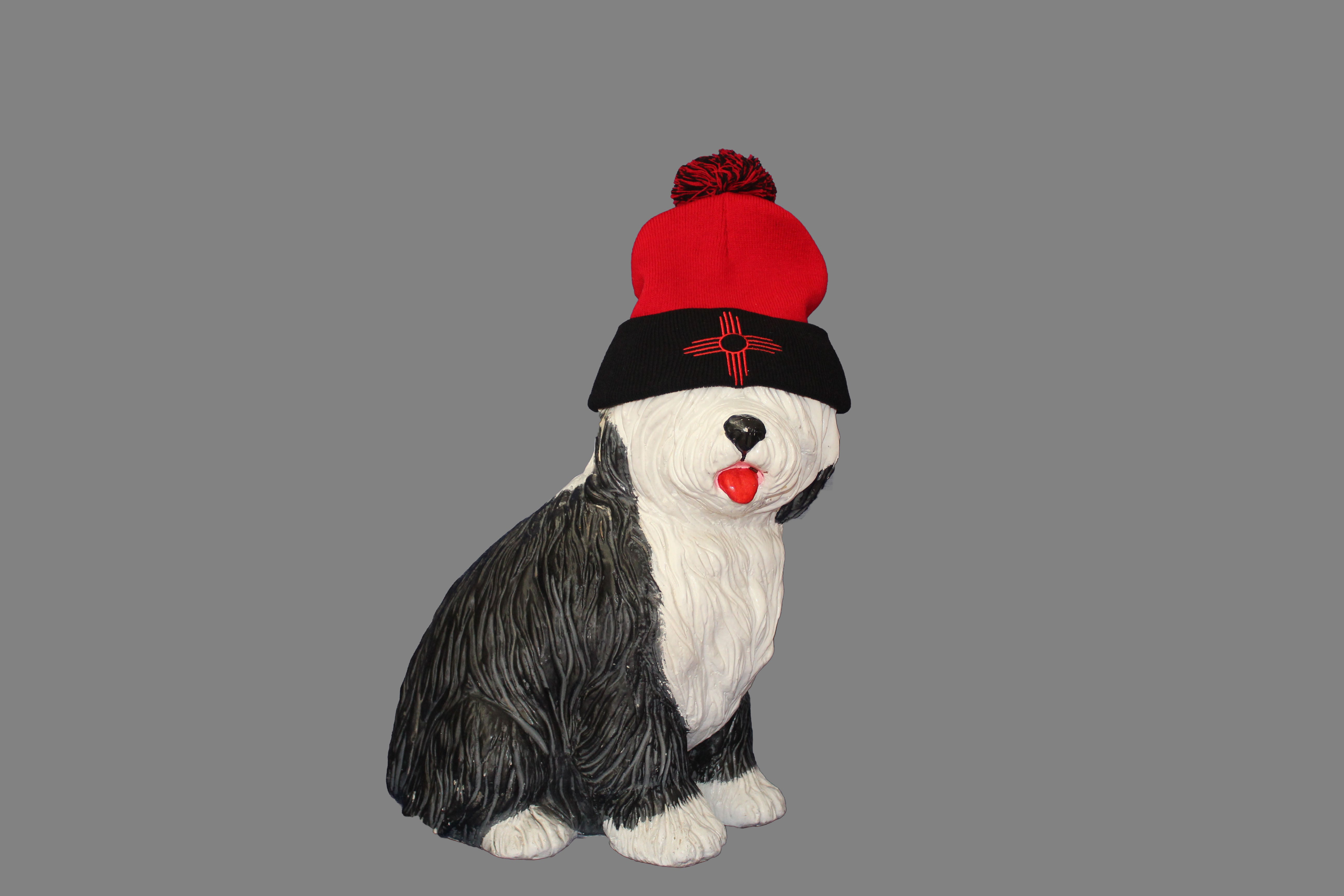 0909f3a29a9d67 Red and Black Pom-pom beanie - Enchanted Supply Co.