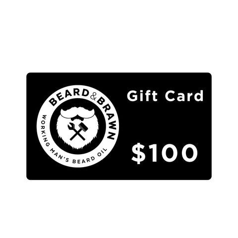 Beard & Brawn Gift Card $25-$100