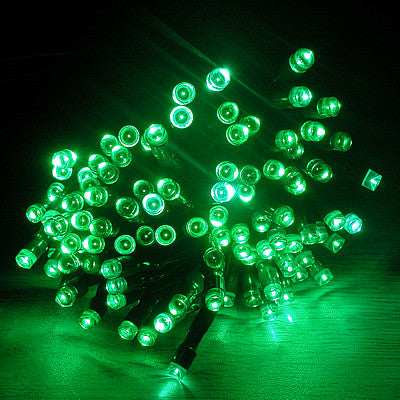 Solar Christmas/ Party String Lights - Green