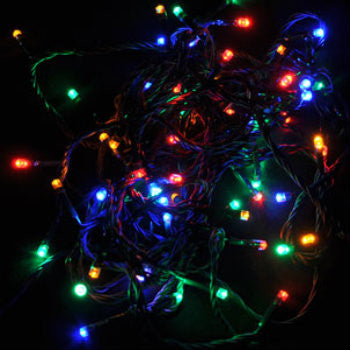 Christmas String Lights.Solar Christmas Party String Lights Multi Colored