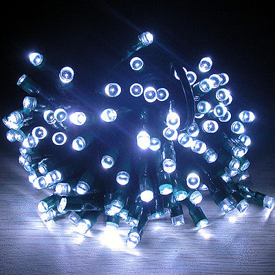 Solar Christmas/ Party String Lights - White