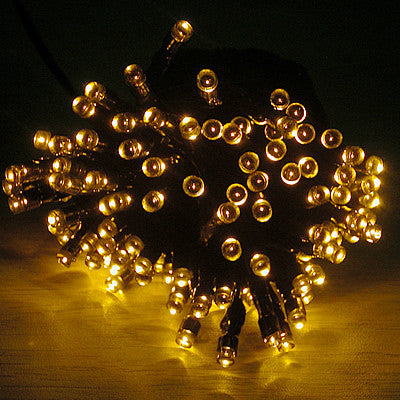 Solar Christmas/ Party String Lights - Yellow