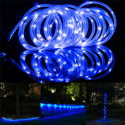 Blue Solar Rope Light