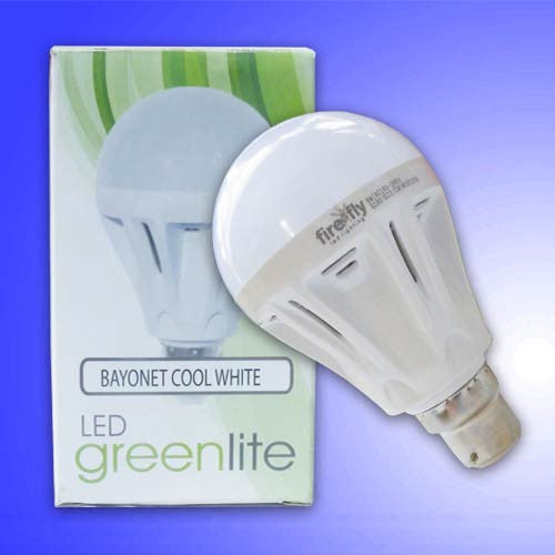 6W LED Greenlite Lamp BC Cool White