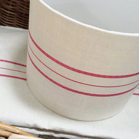 Swiss Stripe Drum Lampshade