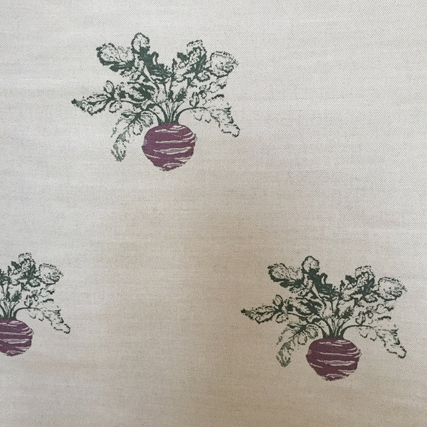 Emily Bond Beetroot Linen (1/2 metre) - Lolly & Boo - 1