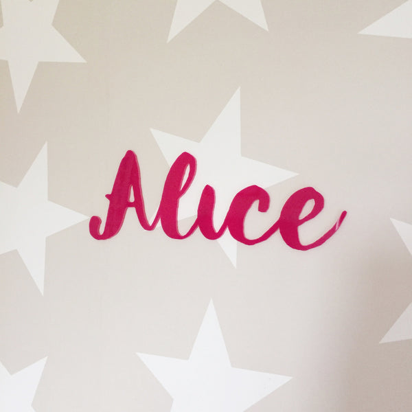 Personalised Acrylic Name Sign - Bright Pink - Lolly & Boo