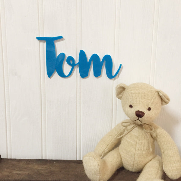 Personalised Acrylic Name Sign - Bright Blue - Lolly & Boo - 1