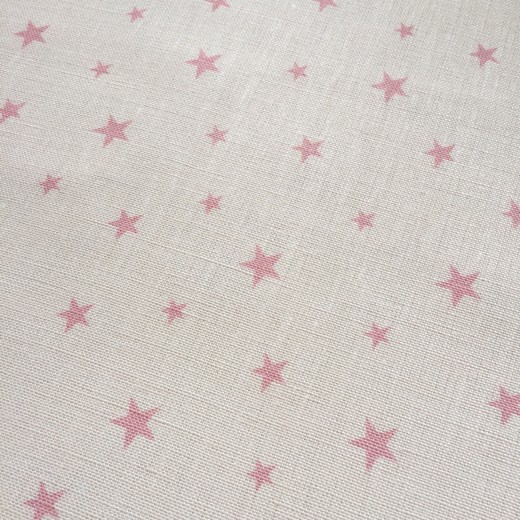 Peony & Sage Blush Pink All Stars Linen - Offcut - Lolly & Boo