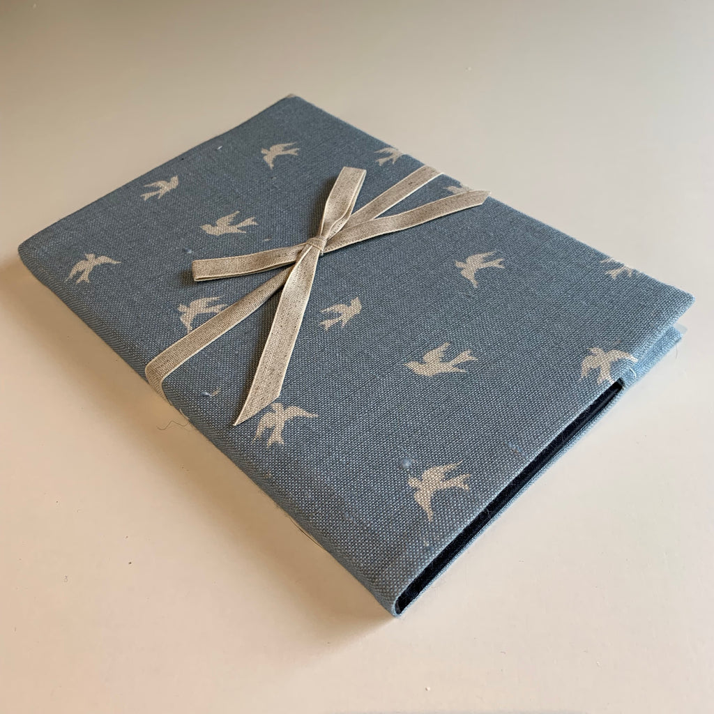 Sky Lark Linen Notebook - Cornish Blue