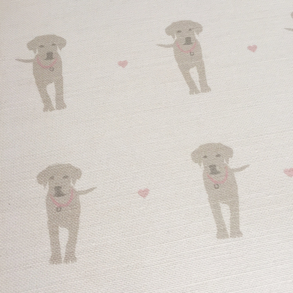 Olive & Daisy Puppy Love Linen - Offcut - Lolly & Boo