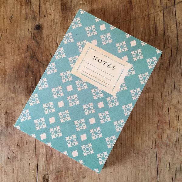 Teal & White Vintage Pattern Journal - Lolly & Boo - 1