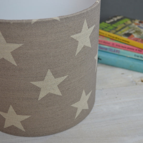 Stars Linen Lampshade - Lolly & Boo