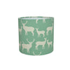 Elk Family (pale green) Drum Lampshade - Lolly & Boo - 2