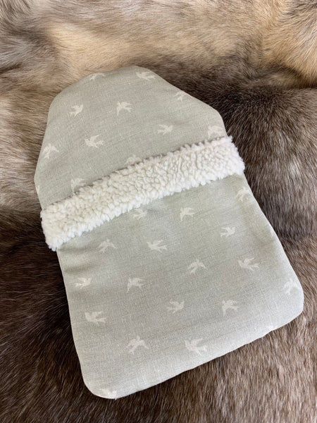 Grey Skylark Hot Water Bottle