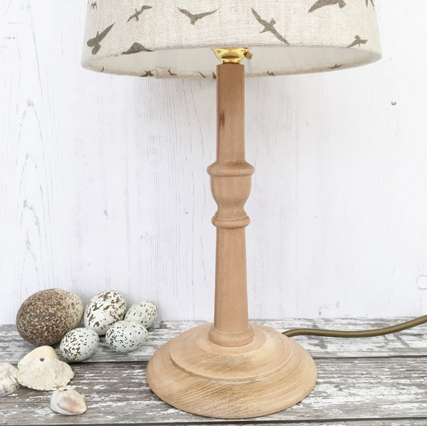 Beech Hardwood Table Lamp (29cm)