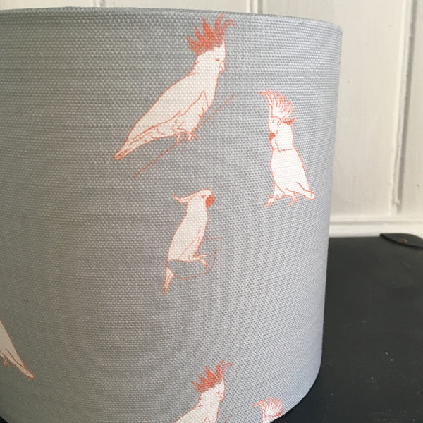 Kooky Cockatoos Drum Lampshade - Lolly & Boo - 2