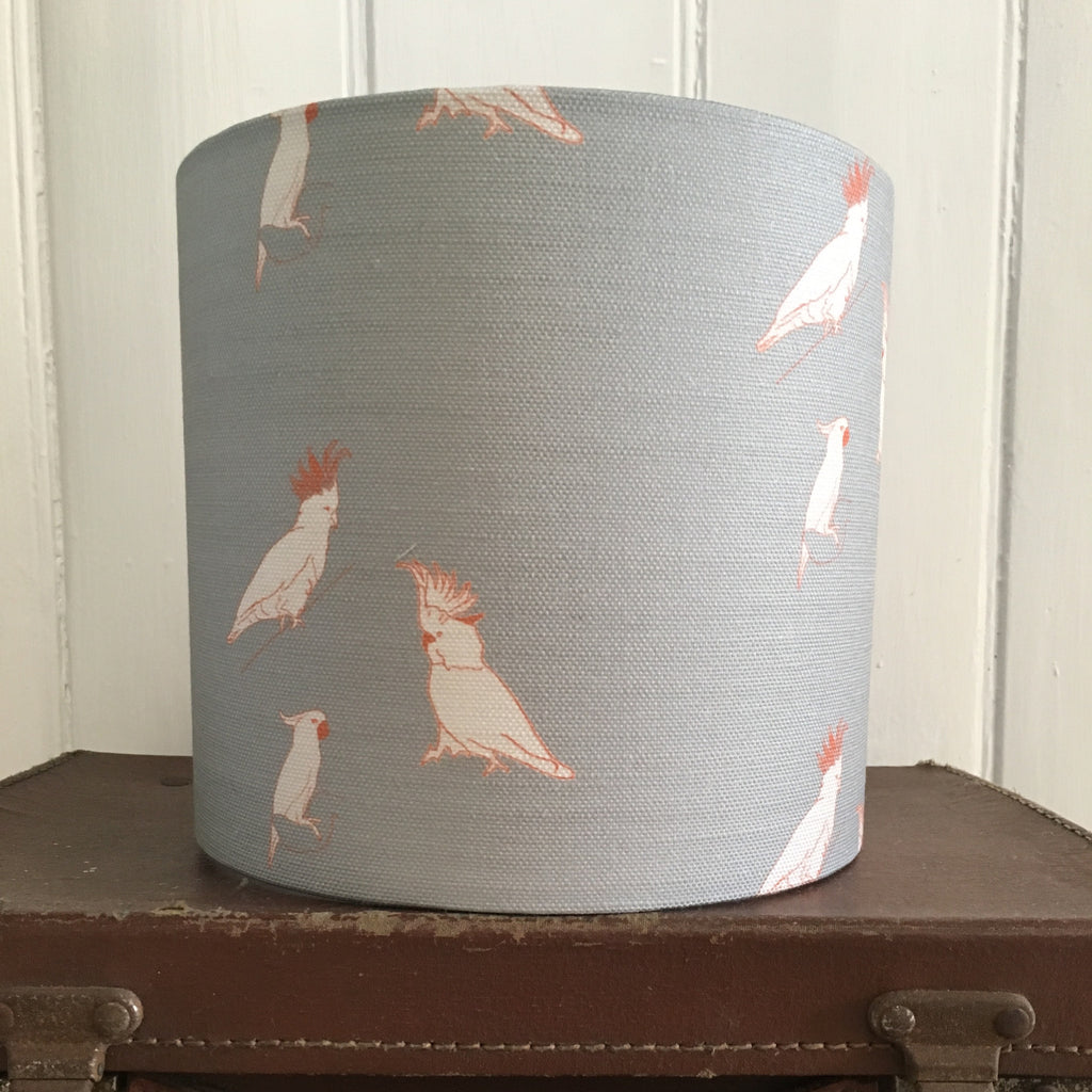 Kooky Cockatoos Drum Lampshade - Lolly & Boo - 1