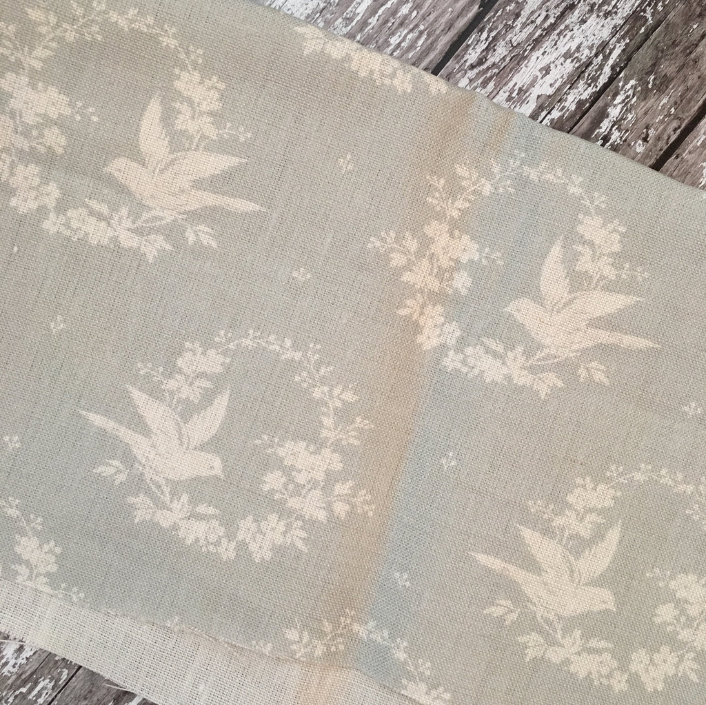 Peony & Sage Birdsong (small) in Seamist Linen - Offcut