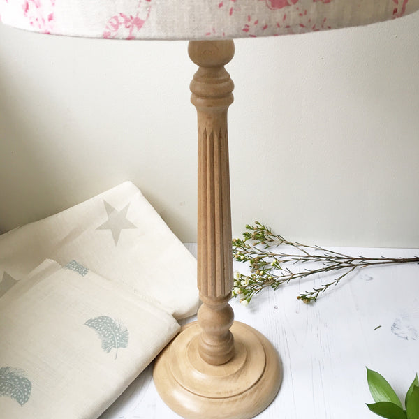 Beech Hardwood Table Lamp (45cm)