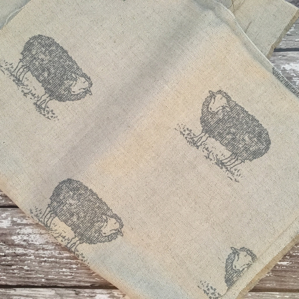 Emily Bond Sheep Linen - Offcut