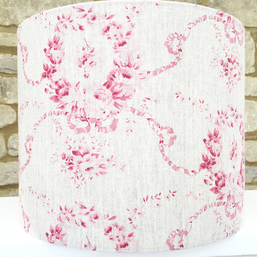 Mathilde in Cherry Linen Lampshade - Lolly & Boo
