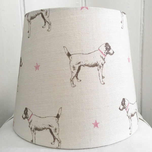 Jack All Star (Pink Stars) Linen Lampshade - Lolly & Boo - 2