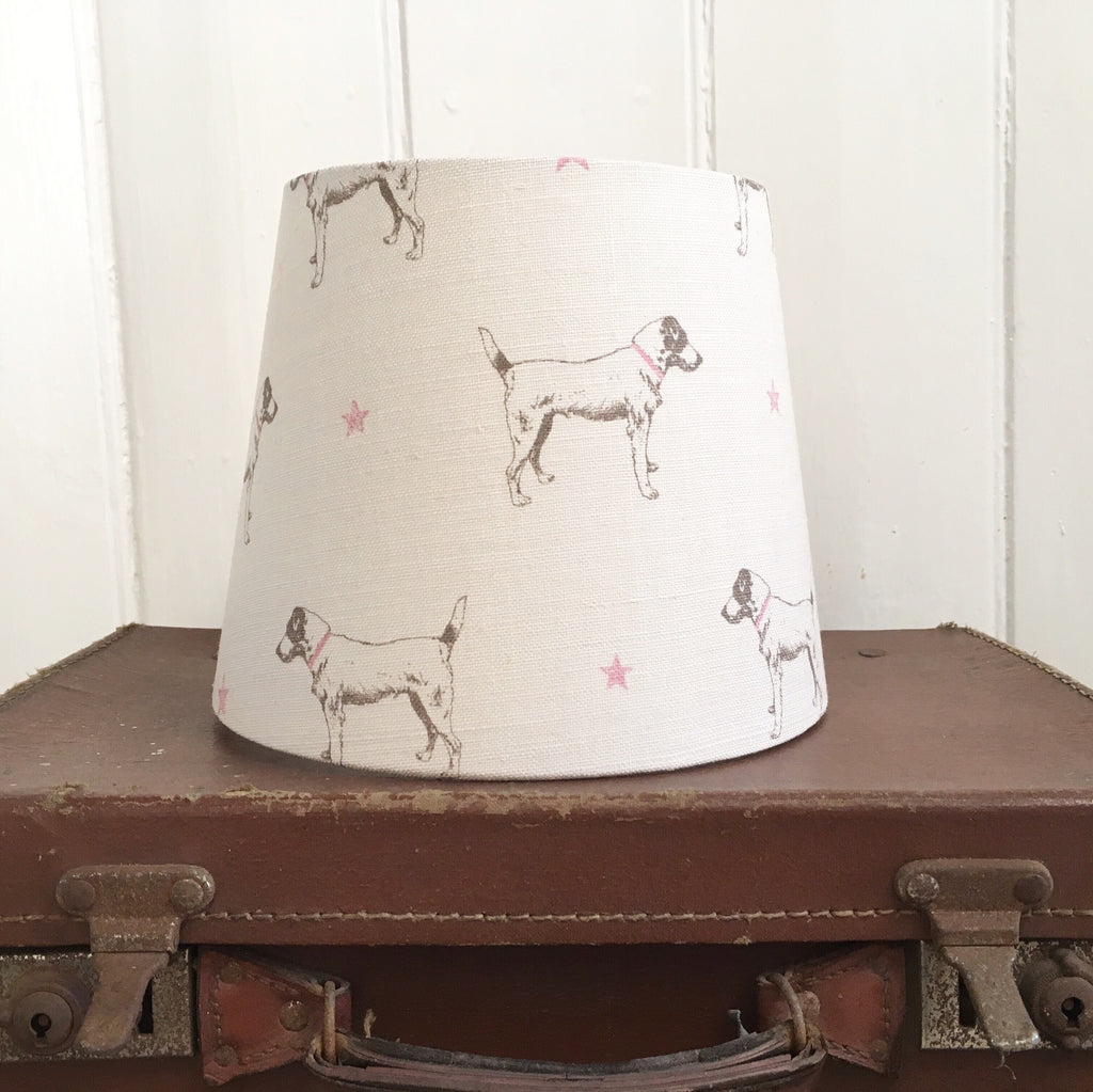 Jack All Star (Pink Stars) Linen Lampshade - Lolly & Boo - 1