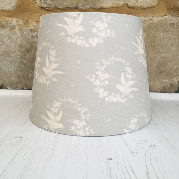 Birdsong in Seamist Linen Lampshade