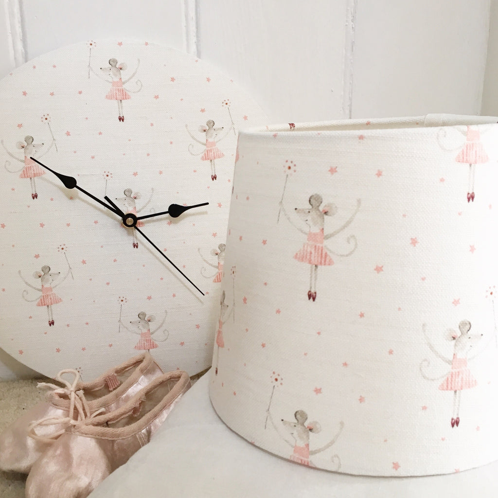 Mrs Mouse Loves Ballet Linen Lampshade - Lolly & Boo - 3